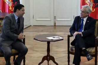 Le président du Chili a reçu Nasser Bourita, porteur d'un message du roi