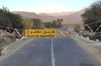 """Maroc: une route fermée à cause de """"dégradations avancées"""""""