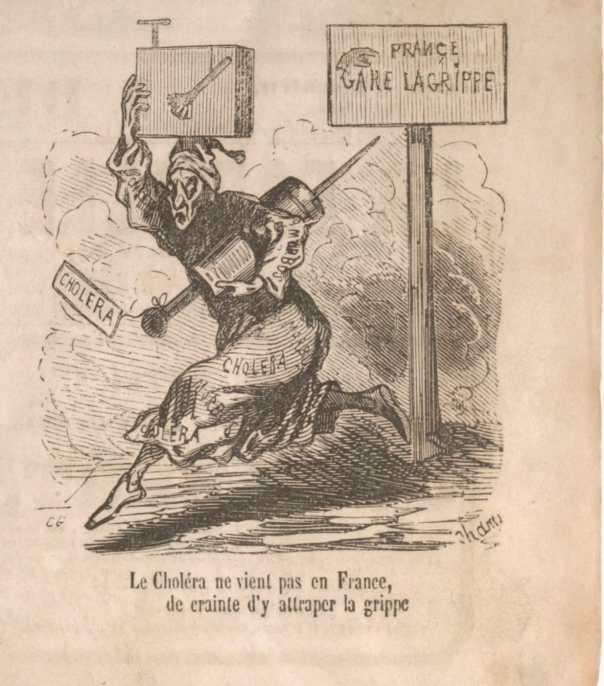 Illustration du journal le Charivari de 1848