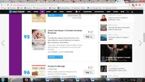 CANDY CANE KISSES Makes USA Today Bestsellers List!