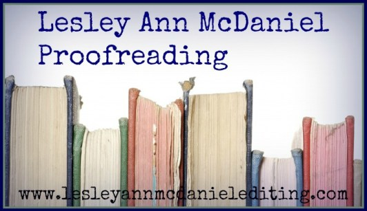 Lesley Ann McDaniel Proofreading 3