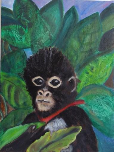 Frida's monkey 40 x 30
