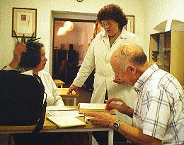 Paula and Dad at Presov Archives