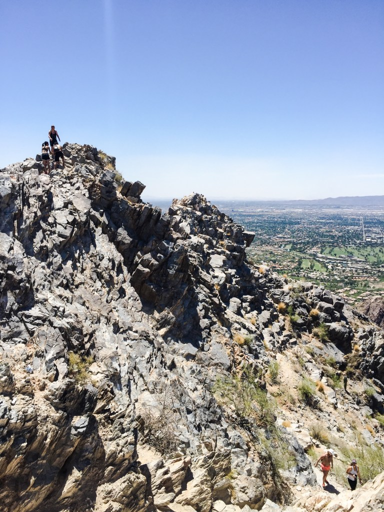 Many layers of Squaw Peak, Phoenix Arizona. Get out | stretch out