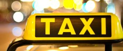 Taxi image of sign