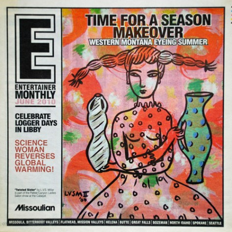 Cover of the Missoulian's Arts Magazine, the Entertainer