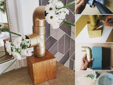 DIY Vase fleurs industriel