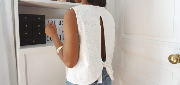 Top Donut en broderie anglaise