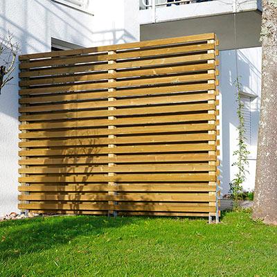 panneaux pare vue bois panneau brise