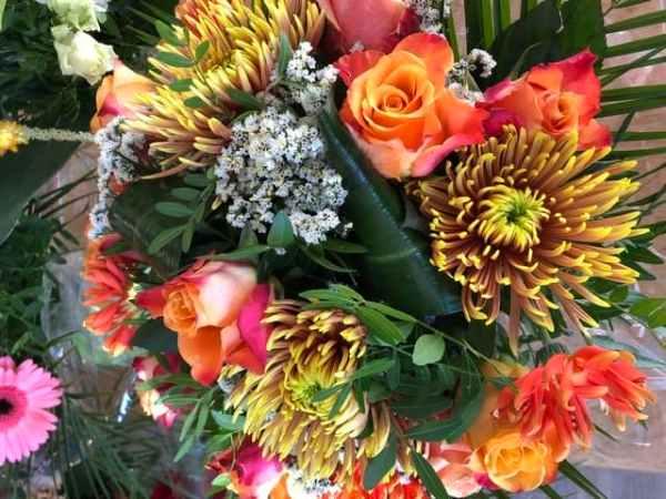 bouquet orange l'atelier de Laureline