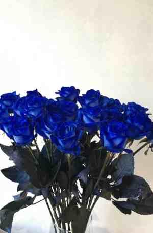 Bouquet de roses bleus
