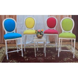 4 chaises medaillon de bar tabouret