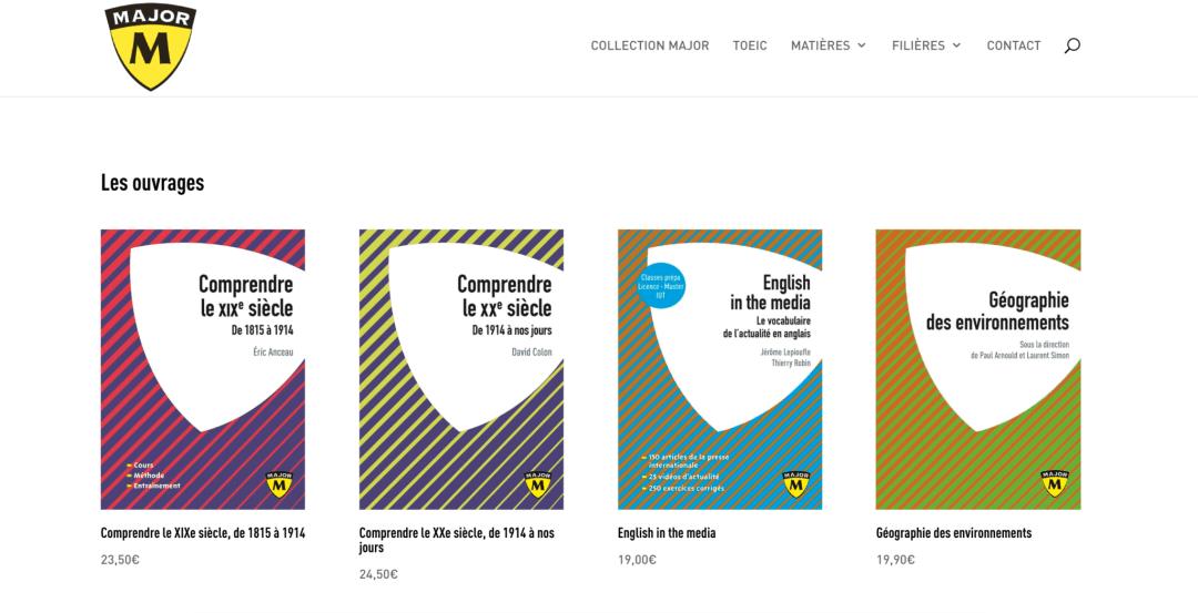 Editions Belin Education : site de la collection Major