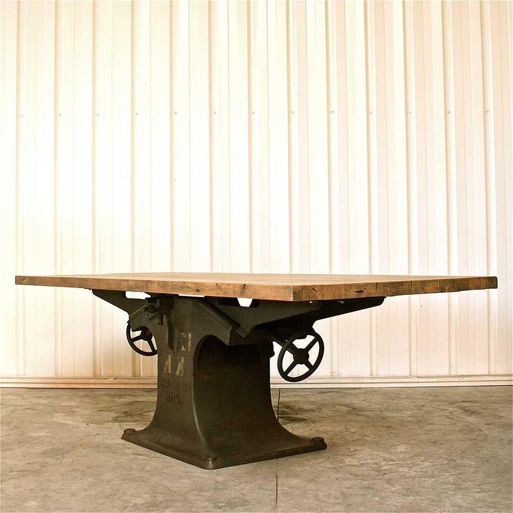 Table Industrielle Pied Central En Fonte Les Nouveaux