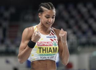 European gym athletics: Thiam leads pentathlon after three races, Vidts 2nd (videos)
