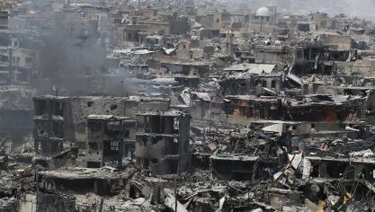 Les civils piégés dans la ville ont vécu dans des conditions «terribles», subissant pénuries en tout genre, bombardements et intenses combats, et servant de «boucliers humains». AFP