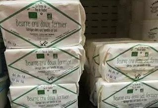 Beurre cru bio ferme du Pas de Vache