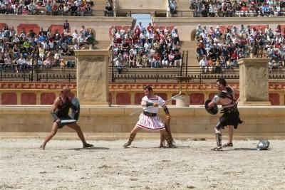 Spectacle gladiateur puy du fou