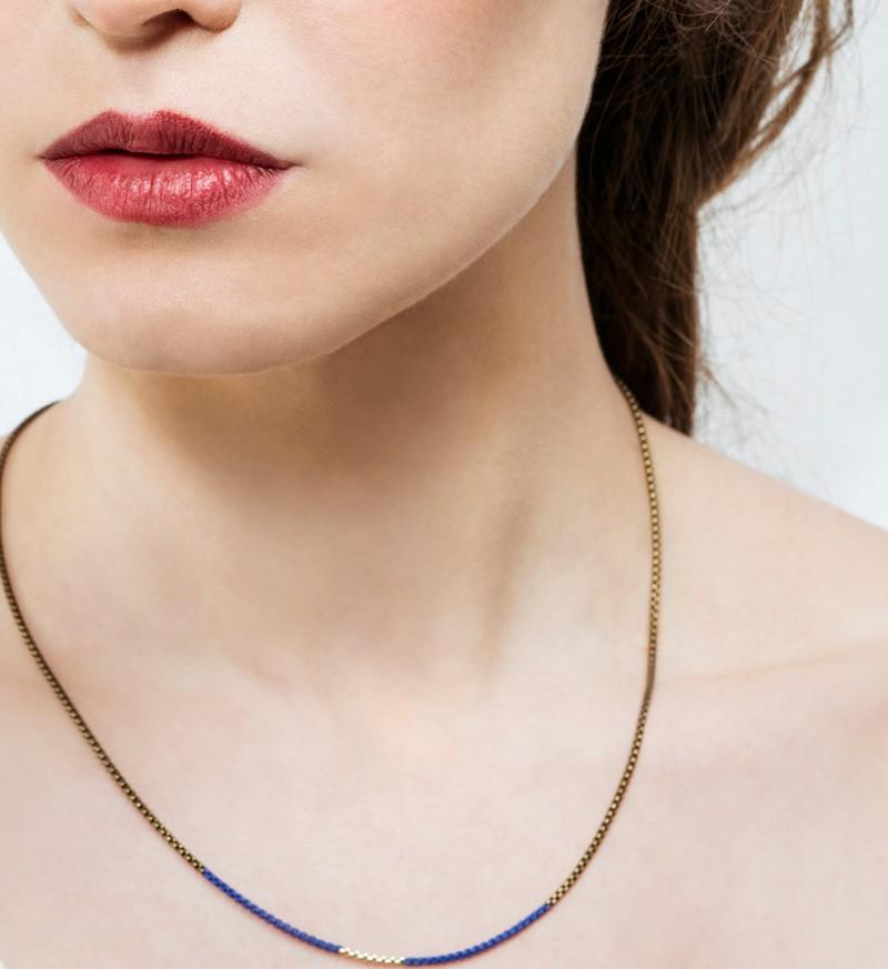 Necklace Split 2 Blue Klein Les Parigotes