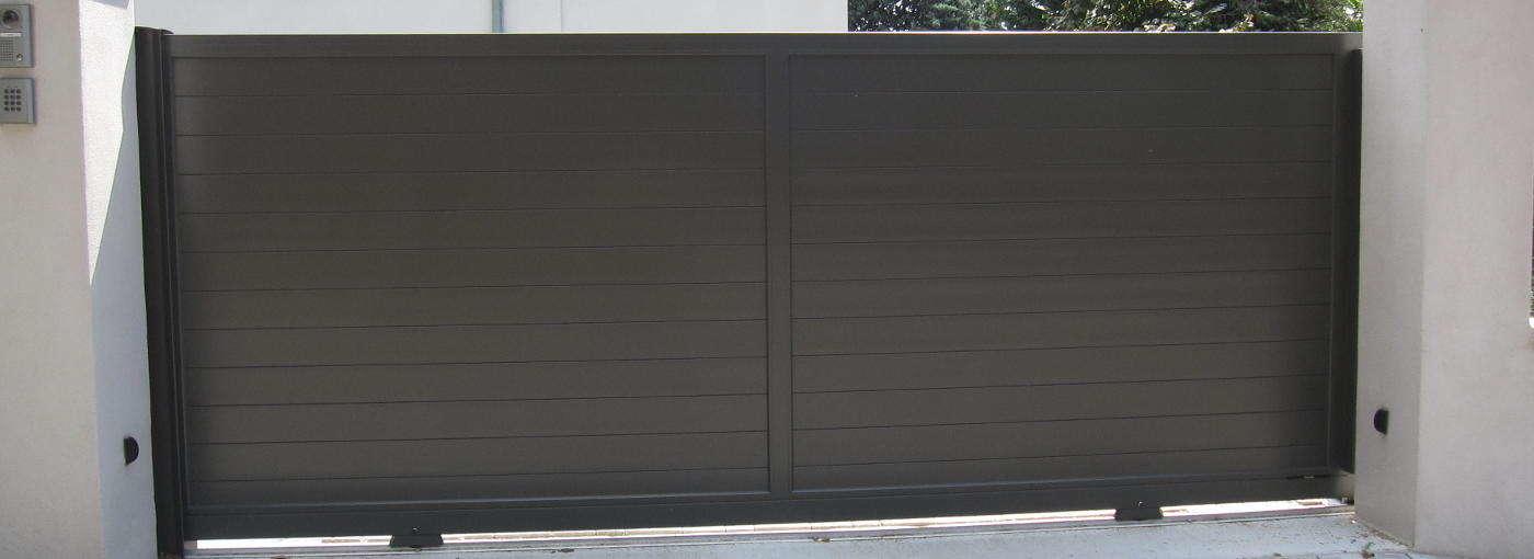 portail aluminium lames horizontales