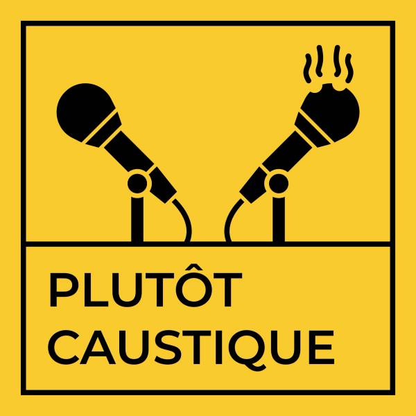 Plutôt caustique : le nouveau logo du podcast d'Urbain et Clément Porteur Sain