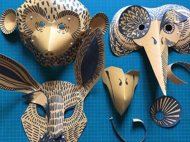 Atelier Masque tête en l'air // JEUDI 27 AOÛT DE 10H À 17H
