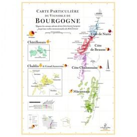 carte particulière du vignoble de bourgogne