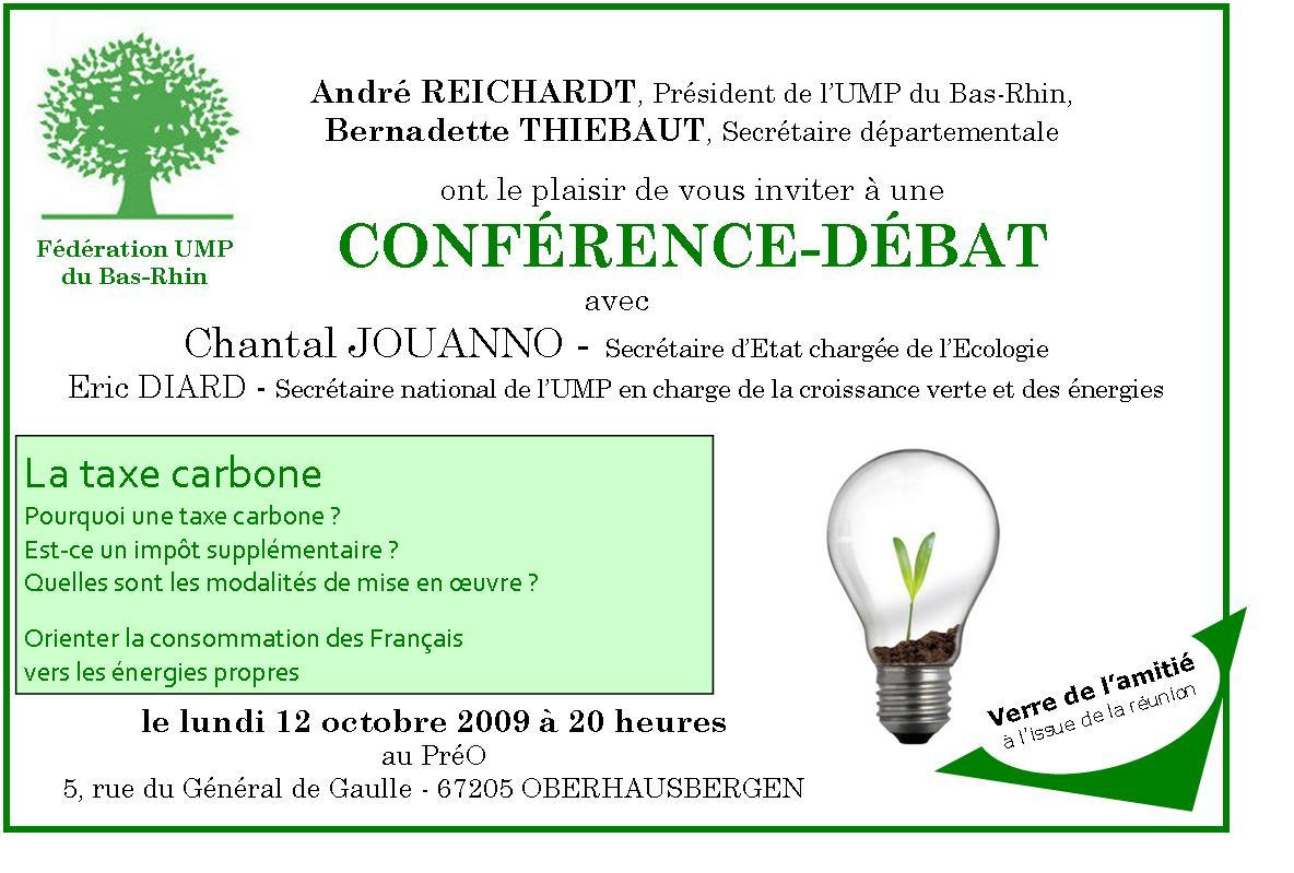 Conférence-Débat avec Chantal JOUANNO et Eric DIARD