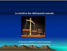 « La récidive des délinquants sexuels »