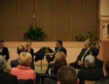 Valérie Rosso-Debord débat de l'Europe à Sélestat