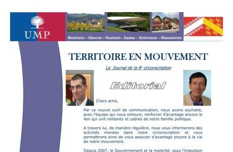 Territoire en Mouvement, la lettre d'info de l'UMP de la Circo 6