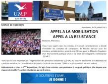 Appel aux dons de l'UMP : Hoenheim se mobilise