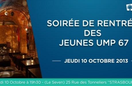 Soirée de rentrée des Jeunes UMP67- Jeudi 10 octobre 19h30 au SEVEN