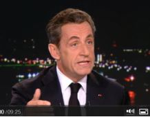 Intervention de Nicolas SARKOZY au journal de 20H de TF1