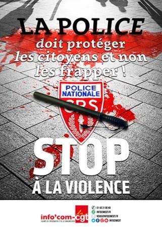 Affiche CGT Police