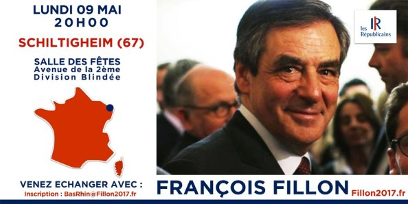 Invitation François FILLON à SCHILTIGHEIM 09-05-16