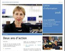 Lettre d'information d'Anne SANDER, député européen – Juin 2016