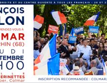 Meeting régional de François FILLON à COLMAR – Jeudi 22 septembre à 19H