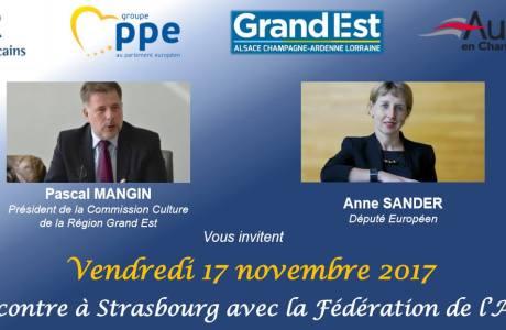Visite Maison de la Région & Parlement européen 17-11-17 à STRASBOURG