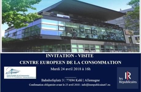 INVITATION – Visite – Centre Européen de la Consommation – Mardi 24 avril 2018