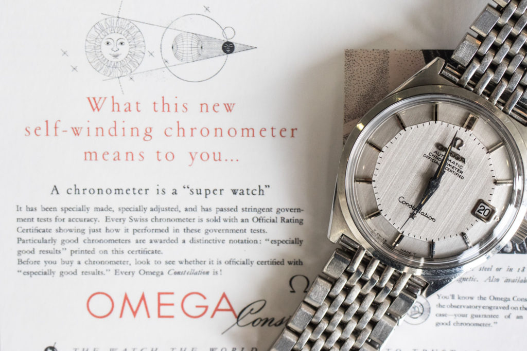 L'histoire de l'Omega Constellation - Exemple de cadran Pie-Pan