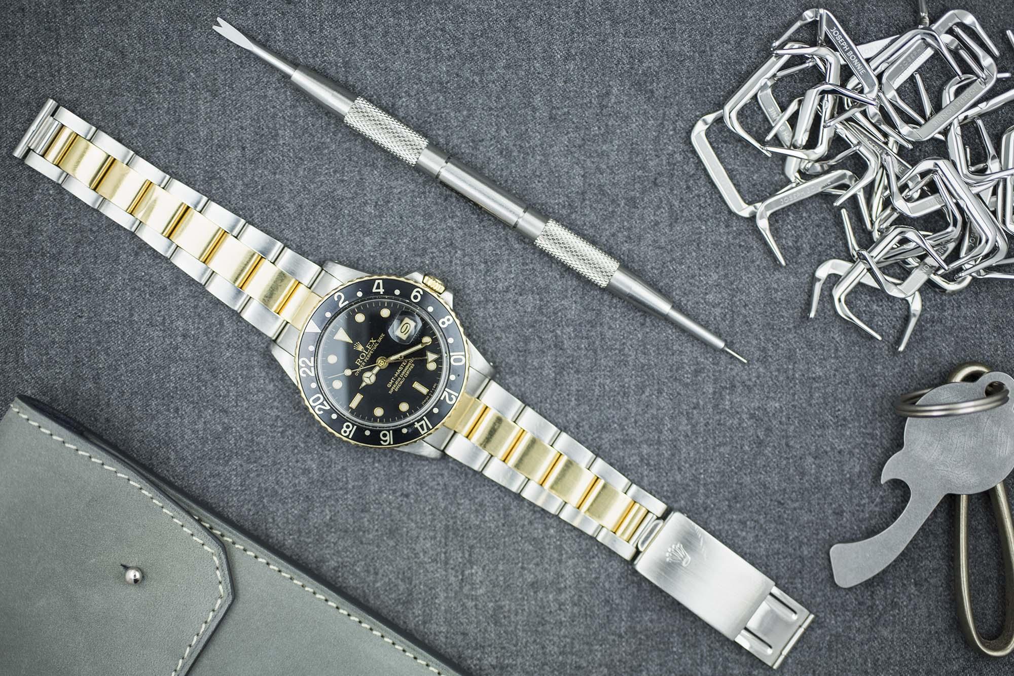 Rolex GMT Master 16753 or et acier