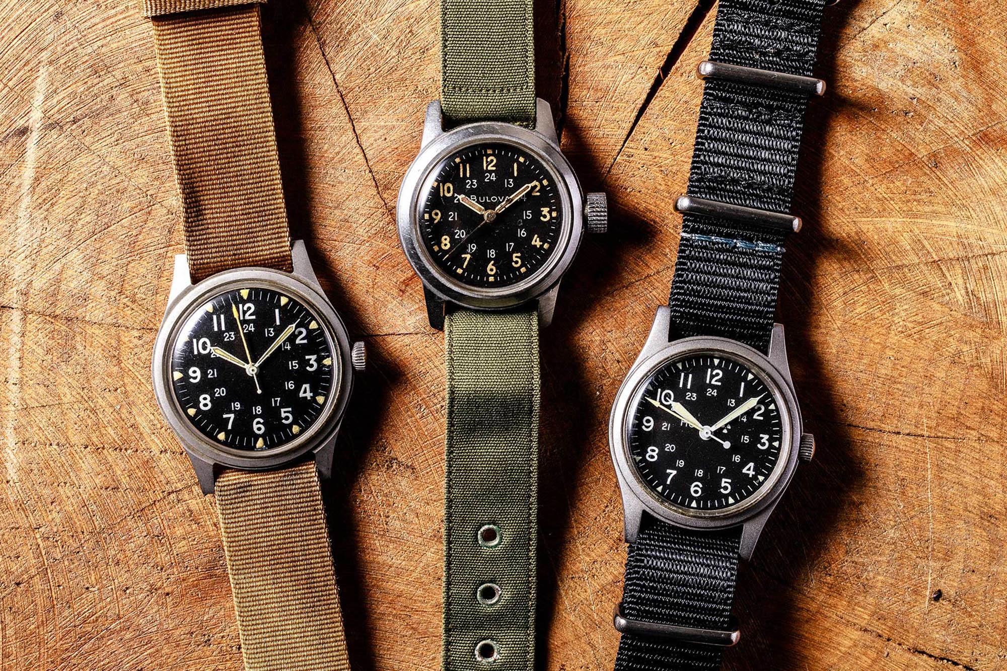 Military watches - Benrus à droite