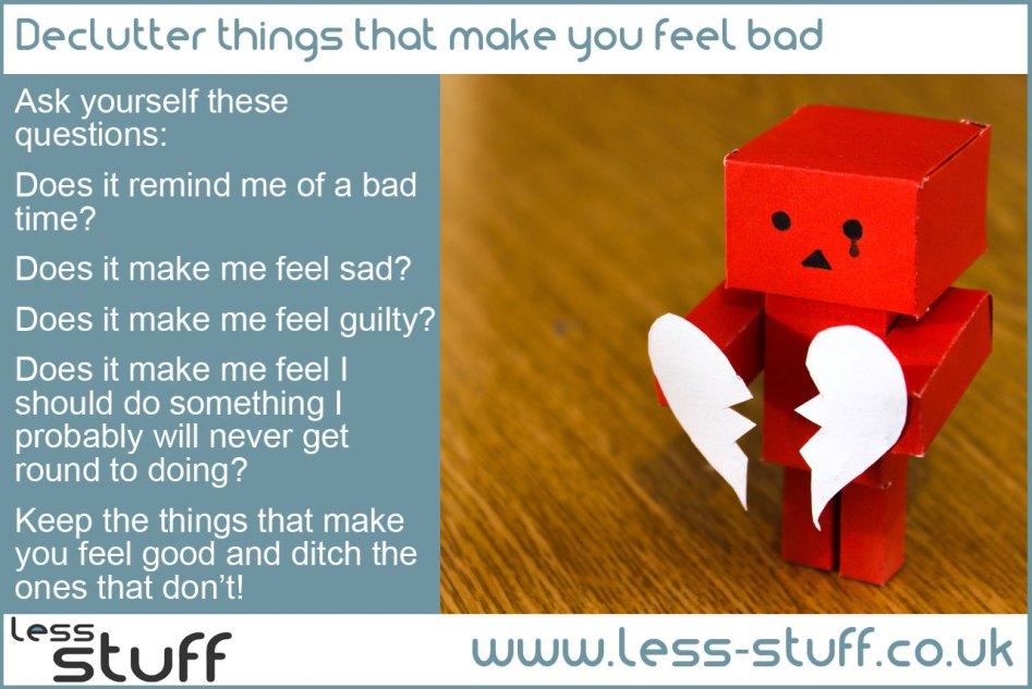 declutter bad feelings
