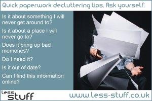 quick paperwork decluttering tips