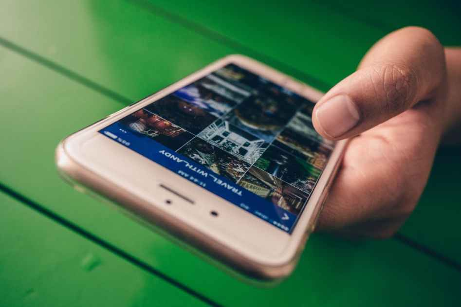 phone and social media
