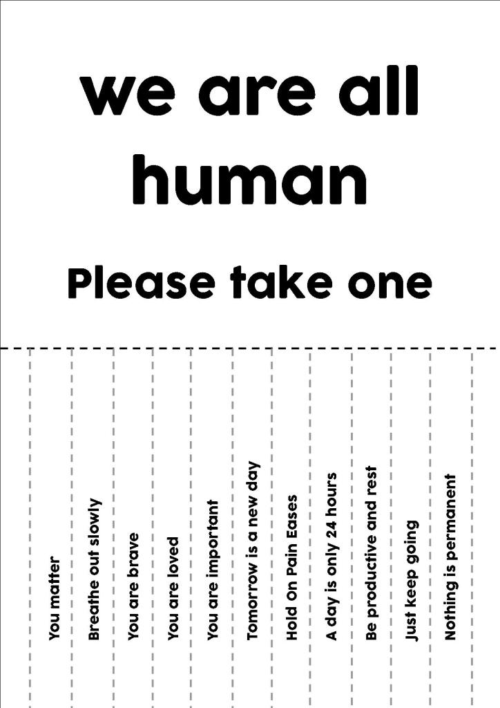 we are all human poster