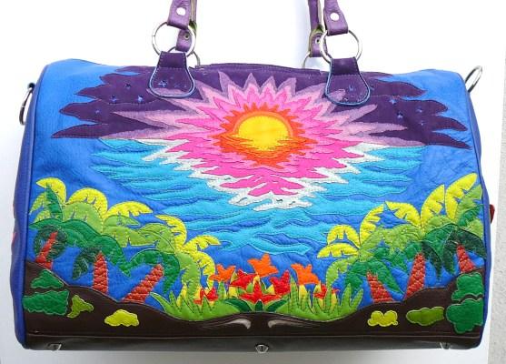 Alice Angevin, Les Sacs à M'Alice Sac de voyage rêve d'hiver 41cuirs coté soleil, 55x40x26cm
