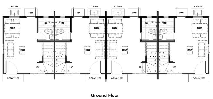 lessandra arielle townhouse ground floor plan