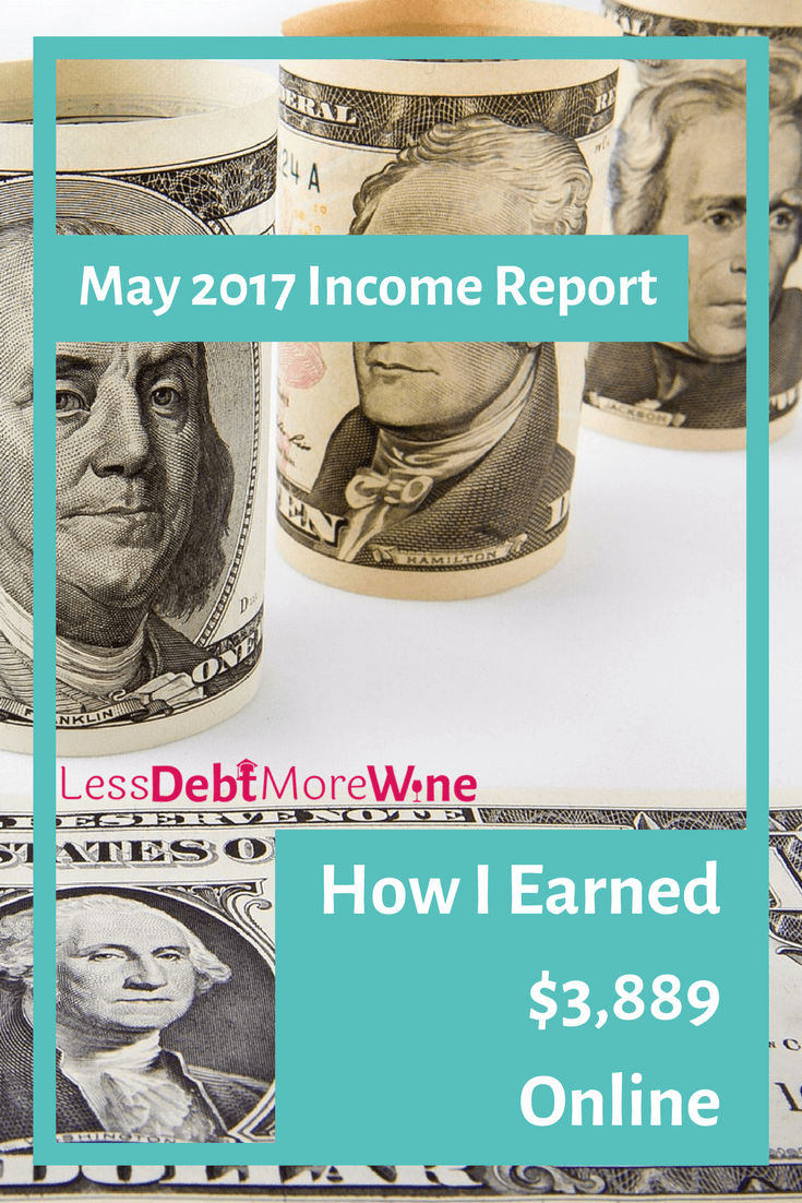 Find out how she made nearly $4k in my May 2017 Income Report. She became self-employed in Jan 2017 and have documented my income since